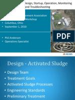 Activated Sludge Design Startup Operation Monitoring