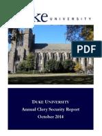 2014 Duke Annual Security Report