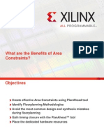 What Are the Benefits of Area Constraints Xilinx