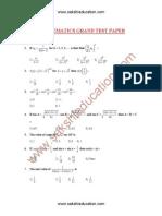 Mathematics Paper1
