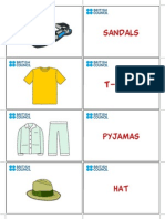 Kids Flashcards Clothes 4