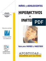 3Niños y Adolescentes Hiperactivos e Inatentos. Guía Familias y Profesorado