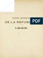 Censo Jeneral de La Republica 1895