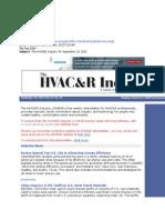The HVAC&R Industry for September 19, 2013