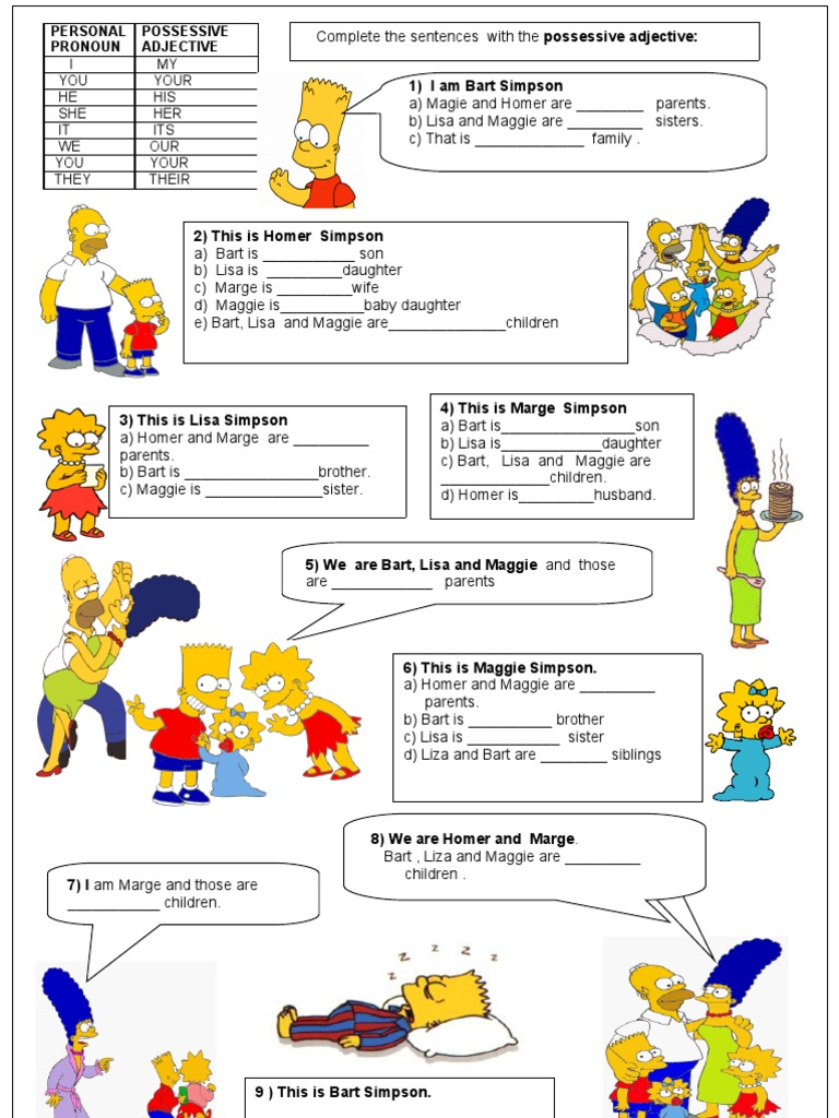 Subject Object Possessive Pronouns Worksheets Pdf - french ...