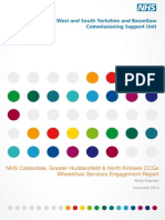 Wheelchair Services Engagement Report Dec 13