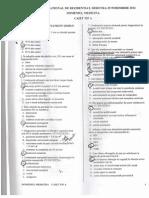 Grile Rezidentiat Bucuresti 2012-Varianta A