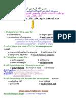 Notes and MCQs Saudia Pharmacy Exam