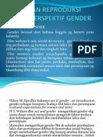 Kesehatan Reproduksi Dalam Perspektif Gender