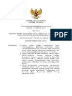 Permen Pu No 05-Prt-m-2014 Pedoman Sistem Manajemen k3 Konstruksi Bidang Pu