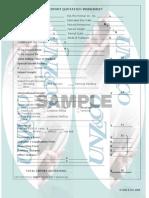 Export Quotation Worksheet sample