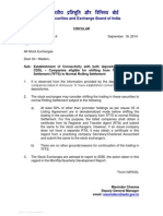 Establishment of Connectivity with both depositories NSDL and CDSL – Companies eligible for shifting from Trade for Trade Settlement (TFTS) to Normal Rolling Settlement