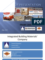 Prism Cement Limited Investor Presn 2014
