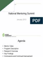 Impact of Academic Mentoring