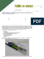 Projeto Arduino Com Display LCD, Sensor de Temperatura e Sensor de Luminosidade