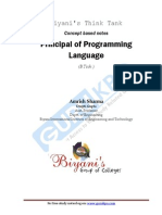 Principal of Programming Language
