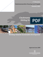 CD029 Clackmannanshire and Stirling Structure Plan 3rd Alteration - Clackmannanshire Housing Land Supply - Towards 2025 (Approved June 2009)
