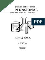 Kumpulan Soal UN Kimia SMA Tahun 2008-2012