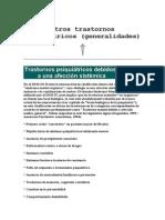 Otros Trastornos Psiquiátricos (Generalidades)
