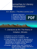 Basic Approaches to Literary Interpretation