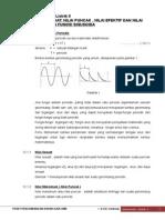 12. Rangkaian Listrik II Nilai Sesaat Nilai Puncak Nilai Efektif Dan Nilai Rata Rata Fungsi Sinusoida