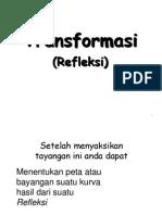 Presentasi Matematika Kelas Xii Transformasi Refleksi