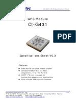 Sirf IV Gps Module Ct-g431 v0.3-s