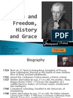 KANT Reason & Freedom, History and Grace