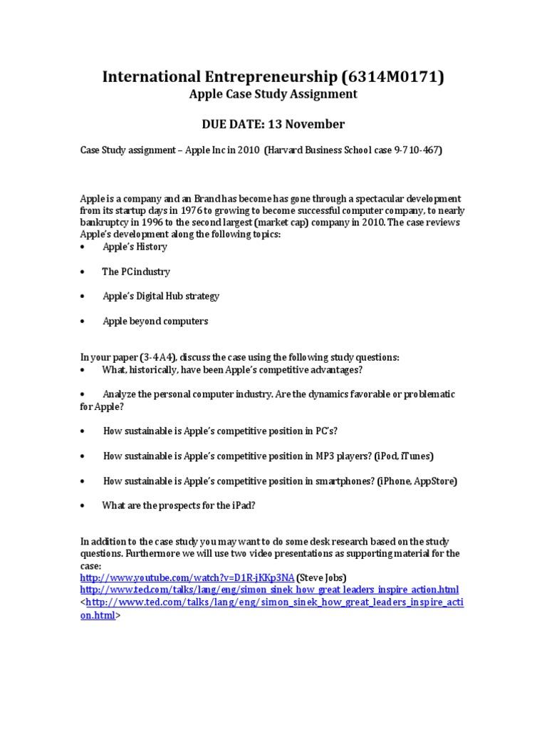 Apple Case Assignment   Apple Inc    iPod