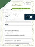 Texto Publicitário - Ficha Análise Publicidade (Blog7 10-11)