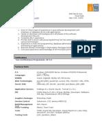 Java Resume
