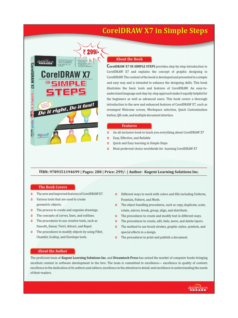 CorelDRAW X7 in Simple Steps   Computing   Technology