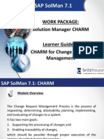 SAP Solman Learner Guide CHARM