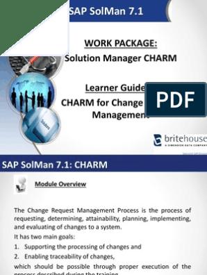 SAP Solman Learner Guide CHARM | Email | Hyperlink