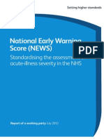 National Early Warning Score Standardising Assessment Acute Illness Severity Nhs