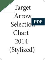 2014 Easton Target Arrow Selection Chart-Stylized