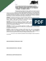 Acta de Entrega de Piezas de Aulas Prefabricadas de La Direccion Regional de Educacion Junin a La i