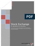 Stock exchange its functions and operations