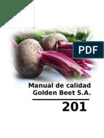 MANUAL DE CALIDAD GOLDEN BEET S A.doc