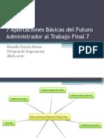 7 Aportaciones Del Futuro Administrador