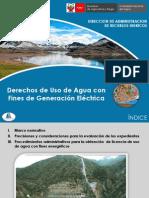 Ok 400 Pro. Adm. Otor. DUA Con Fines Hidroeléctrico
