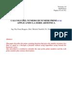 """Pier Franz Roggero, Michele Nardelli, Francesco Di Noto - """"Nuovo Metodo Per Calcolare Il Numero Di Primi"""""""