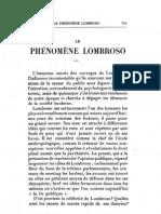 Mesnil Jacques - Le phénomène Lombroso (Mercure de France, juin 1900)