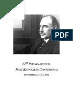 Post Keynesian Conference Schedule
