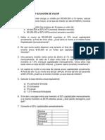 Tasas de Interés y Ecuación de Valor. Ejercicios Propuestos