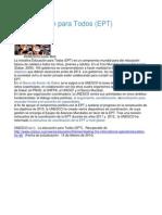 La Educación para Todos, Dakar.pdf