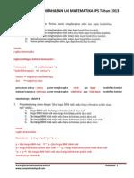 Soal Dan Pembahasan UN Matematika SMA IPS Tahun 2013