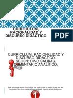 Curriculum, Racionalidad Y Discurso Didáctico
