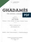 Ghadamès -II- Glossaire (Parler Des Ayt Waziten) - Jacques Lanfry (Pages 1-223)