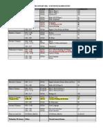 Mocks Timetable